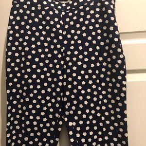 Kate spade navy cotton ankle pants 10/30